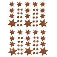 68 Sterne Sticker Aufkleber Glitzernd Funkelnd Weihnachtsdeko Weihnachtssterne - braun