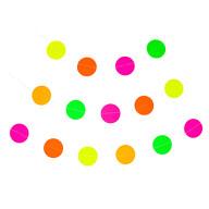 Kreis Girlande Deckenhänger Banner mit Kreisen Geburtstag Party Einschulung Deko - neonfarben bunt