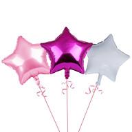 3er Set Stern Folien Luftballons Kinder Geburtstag Party Schuleinführung JGA Hochzeit rosa pink weiß