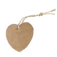 20 Geschenkanhänger Etiketten Hochzeitsdeko Geschenkdeko Anhänger mit Schnur und Herz Motiv