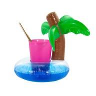5x Schwimmende Palme Getränkehalter Becherhalter aufblasbar Pool Badespielzeug
