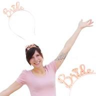 Haarreif Haarreifen Bride JGA Junggesellinnenabschied rosé gold