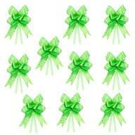 10 Geschenkschleifen mit Geschenkbändern Deko Schleifen - hellgrün