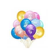 10x Luftballons Schuleinführung Einschulung Schulanfang Deko ABC 123 Zuckertüte - Farbmix
