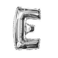Folien Luftballon Buchstabe E Geburtstag Silber Hochzeit Party Deko Ballon - silber