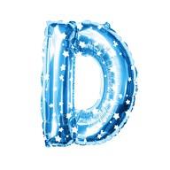 Folien Luftballon Buchstabe D Kinder Geburtstag Baby Shower Party Deko Ballon - blau