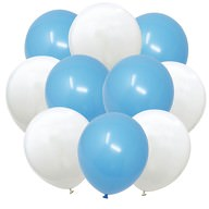 Luftballon Set 10 Deko Ballons Oktoberfest Party Kinder Geburtstag Baby Shower Junge blau weiß