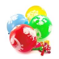 10 Dino Luftballons Kinder Geburtstag Party Dinosaurier Ballons bunt
