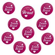 Button Set JGA Junggesellinnenabschied - 1x Braut / 9x Team Braut