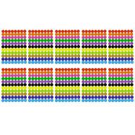 880 Markierungspunkte Klebepunkte Sticker Punkte Aufkleber zum Markieren Ø 10 mm - 11 Farben