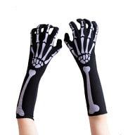 Skelett Handschuhe Armlinge Halloween Kostüm Karneval