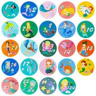 24 Adventskalender Sticker Zahlen Aufkleber Meerjungfrau Motive Weihnachten Basteln Weihnachtsdeko