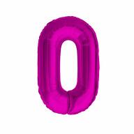 1x Folien Luftballon mit Zahl 0 Kinder Geburtstag Jubiläum Silvester Party Deko Ballon pink