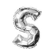 Folien Luftballon Buchstabe S Geburtstag Silber Hochzeit Party Deko Ballon - silber