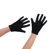 Kinder Handschuhe Einbrecher Dieb Kostüm Accessoire - schwarz
