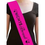 Schärpe nicht die Braut JGA Junggesellinnenabschied Hen Party pink