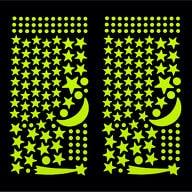 Leuchtsterne Sticker Set Mond Sterne Selbstleuchtend Wandsticker