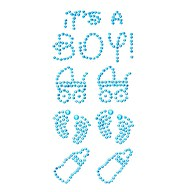 It's a Boy Strass Steine Sticker Geburt Baby Shower Taufe Deko - türkis