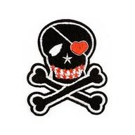 Aufnäher Patch Abzeichen Aufbügler Flicken - Piraten Totenkopf