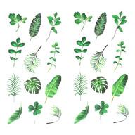 24 Blätter Sticker Blumen Pflanzen Aufkleber Vintage Küche Dekoration Scrapbooking Kinder Basteln