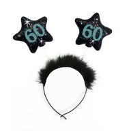 Haarreif Haarreifen 60. Geburtstag Birthday Party - schwarz