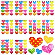 150 Herz Sticker Herzen Aufkleber Glänzend Scrapbooking - bunt