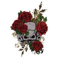 Temporäres Tattoo Klebetattoo Tättowierung - Skull & Roses
