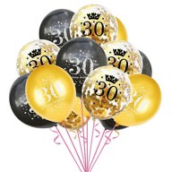 Konfetti Luftballon Set Zahl 30 Geburtstag Happy Birthday 15 Ballons