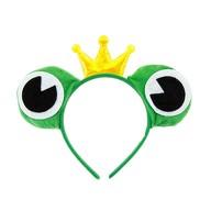 Haarreifen Froschkönig Haarreif Froschaugen Krone Kostüm Accessoire Fasching Karneval Motto Party