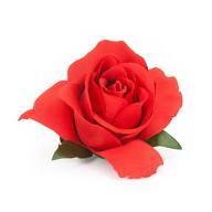 Rosen Anstecker Rose mit Spange Hochzeitsanstecker Ansteckblume - rot