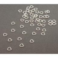 Herz Konfetti Perlenherzen Tischdeko Liebe Hochzeitsdeko - weiß