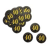 Konfetti Zahl 40 Geburtstag Jubiläum Hochzeitstag Tisch Deko Streudeko - schwarz gold