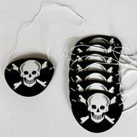 8 Piraten Augenklappen Fasching Piratenkostüm - Totenkopf