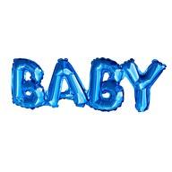 Folien Luftballon Baby Schriftzug Folienballon für Baby Shower Party Geburt Junge - blau
