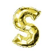 Folien Luftballon Buchstabe S Geburtstag goldene Hochzeit Party Deko Ballon - gold