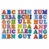 ABC 123 Buchstaben Zahlen Sticker Set 59 Aufkleber für Schuleinführung Einschulung Basteln - bunt