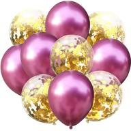 Konfetti Luftballon Set 10 Stk Geburtstag Party Hochzeit JGA Deko pink gold