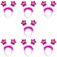Haarreif Haarreifen Set Braut + Team Braut JGA Junggesellinnenabschied pink