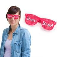 Brille Junggesellinnenabschied JGA zukünftige Braut rosa - Team Braut