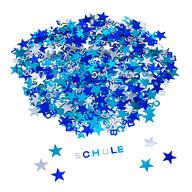 ABC Alphabet Buchstaben Konfetti Streudeko Tisch Deko für Schuleinführung Geburtstag Feier Party - blau silber türkis