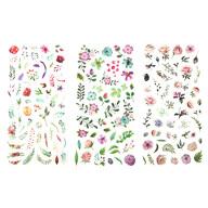 149 Sticker Blumen Pflanzen Blätter Aufkleber Vintage Deko Scrapbooking Verzierung Kinder Basteln