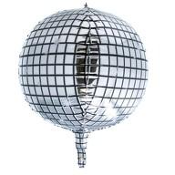 Folien Luftballon Discokugel Disko Ball Folienballon Geburtstag Party Hochzeit JGA Silvester silber