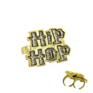 Hip-Hop Ring Schmuck für Hip Hopper Rapper Gangster Kostüm Fasching Karneval Party