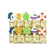 10 Mini Wäscheklammern Holz Miniklammern Deko Klammern - rund ums Meer