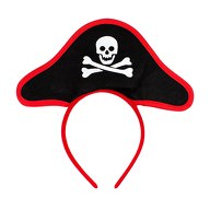 Haarreif Haarreifen Piraten Hut Piratenkostüm Fasching Karneval Accessoire