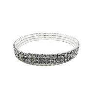 Armband Armreif mit Diamanten für Mädchen Frauen Damen JGA Hochzeit Geburtstag Geschenk silber