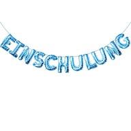 Einschulung Folienballon Girlande Schuleinführung Schulanfang Feier Deko blau