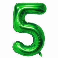 1x Folien Luftballon mit Zahl 5 Kinder Geburtstag Jubiläum Silvester Party Deko Ballon grün