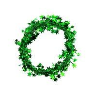 Folien Girlande Stern Lametta Hängedeko Tisch Deko Geburtstag Weihnachten Silvester Party - grün
