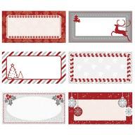 6 Etiketten Sticker Beschreibbare Weihnachts Aufkleber Geschenke Deko